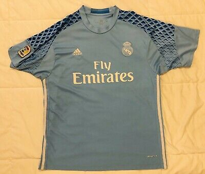 Adidas Real Madrid Away Jersey 2017-18  Blue Size XL Extra Large