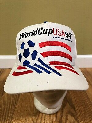 VTG Adidas World Cup 94 Snapback Hat Rare White