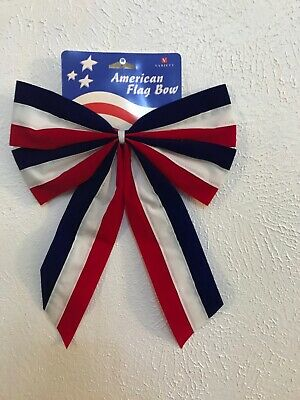 4th Fourth of July Decorative Bow Red White - Blue 5Pack 11 x 14