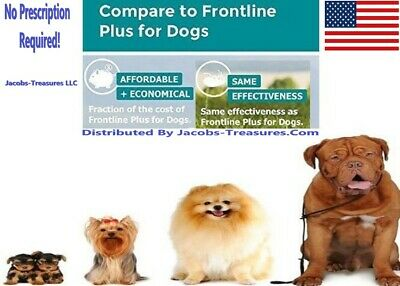 Frontline Plus For Dogs 45-88 LBS 3 Months Large Dogs JTS Generic F-T Plus