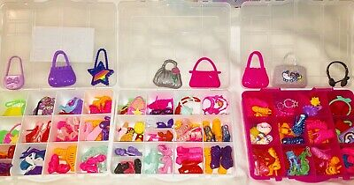 Barbie Doll accessories lot 50 - Items shoes Jewelry PursesBags  Hair Access