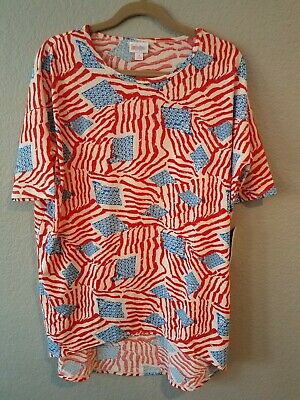 Lularoe New Irma S Small American Flag Fourth Of July Top 4th America Patriotic