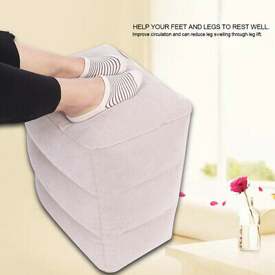 Portable PVC Travel Air Inflatable Footrest Travel Air Inflation Pillow Relax