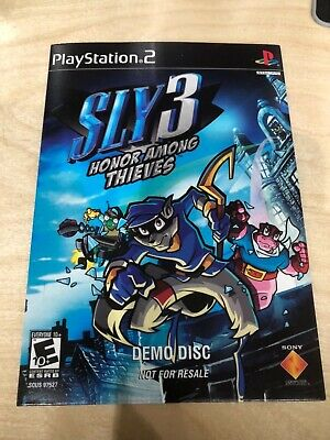 SLY COOPER 3 DEMO DISC AND PSM DEMO DISC 62 FEATURING SLY COOPER PS2