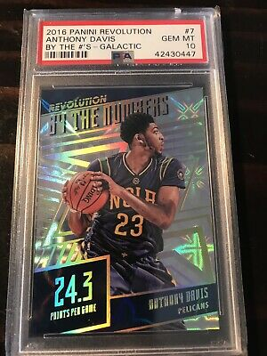 2016-17 Panini Revolution Galactic By The Numbers Anthony Davis Pelicans PSA 10