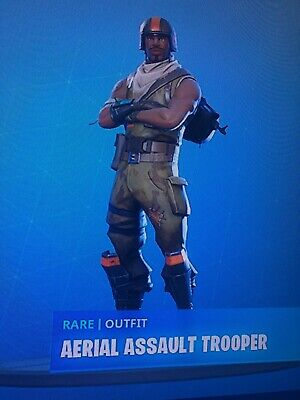 STACKED FORTNITE AERIAL ASSAULT TROOPER  XBOX EXCLUSIVE SKIN 30 SKINS