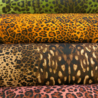 Cheetah Print Polyester Fabric 5456 Wide 100 Polyester Sold By The Yard