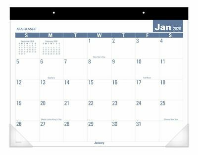 AT-A-GLANCE Easy To Read Desk Pad 21-34 x 17 Jan-Dec 2020 SKLP243220