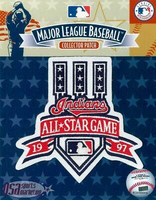 1997 All Star Game Official Cleveland Indians MLB Sleeve Jersey Logo Patch