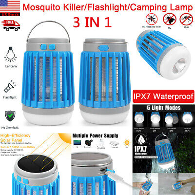 Solar USB Mosquito Killer Light Electric Trap Lamp Fly Bug Zapper Pest Control