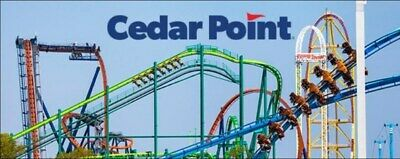 2 TWO Cedar Point Theme Park e-Tickets for Child or Adult Admission