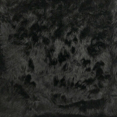 Faux Fur Fabric Short Pile 60 Wide Sold By The Yard Shag Black Polyester