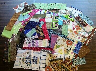 12 Yard of Scrappy Fabric Strips - Pieces for Crumb Quilt Projects 100 Cotton
