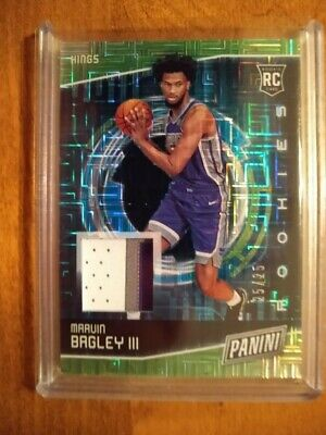 2018-19 Panini Cyber Monday Marvin Bagley III RC SP Hyperplaid Jersey 2525 11