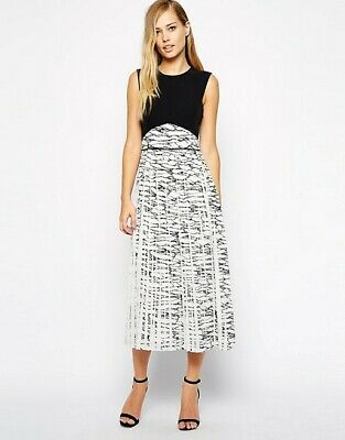 Whistles Marble Print Pleated Dress