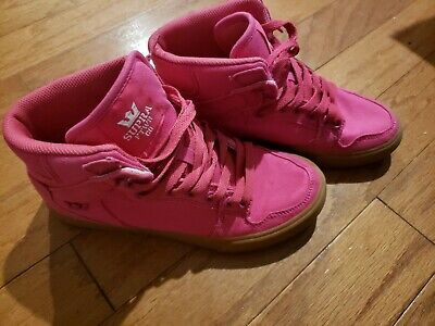 Supra High Top Fashion Tennis Shoes Womens Pink Size 7