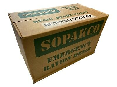 Case 14 SOPAKCO MRE Emergency Ready to Eat 1117 Inspect Date REDUCED SODIUM