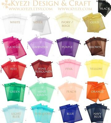 2x3 Sheer Drawstring Organza Bags Jewelry Pouches Wedding Party Favor Gift Bag