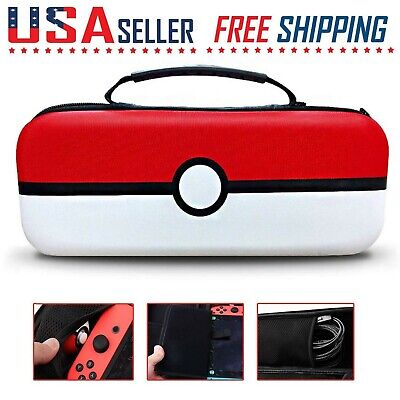 For Nintendo Switch Pokemon Carrying Case Portable Travel Protective Hard Bag