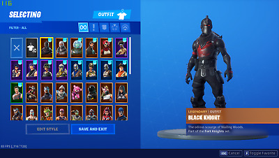 Fortnite Account with black knight and OG skins Add me on Discord NightMare0198