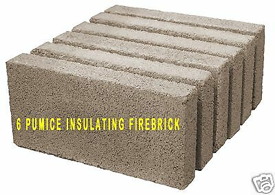 PACIFIC ENERGY PUMICE WOOD STOVE FIREBRICK  PP1901    WHOLE - UNCUT     6 PACK