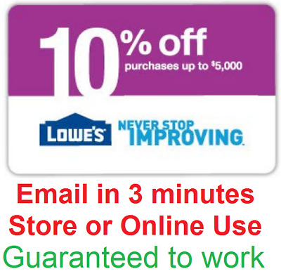 One 1x Lowes 10 Off InStore and Online1Coupon-Fast Delivery-