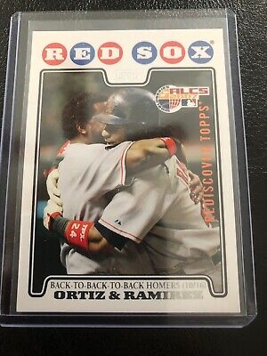 2017 Topps Rediscover Buy Back Bronze Stamped 2008 David Ortiz and Manny ALCS99
