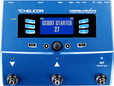 TC Helicon Voicelive Play 3-Button Vocal Effects Stompbox - Warranty