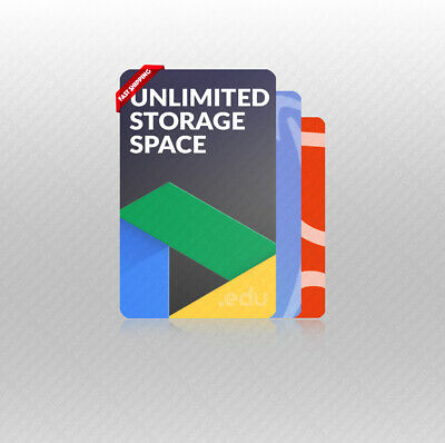 UNLIMITED STORAGE GOOGLE DRIVE ON NEW ACC - 5TB ONE D - 365 NEW AC HURRY