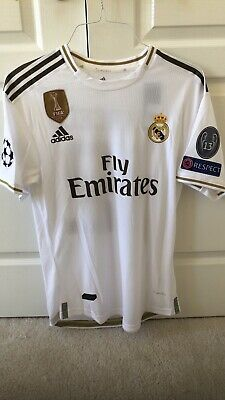 Adidas Real Madrid Home Jersey 1920 Size L Player C-L- Patch Tags 12 Marcelo