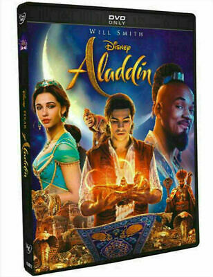 Will Smith - Aladdin DVD 2019 1-Disc Live Action - Ships FAST
