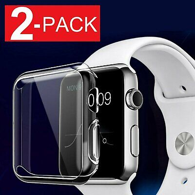 For Apple Watch  5  6 SE Soft Clear Bumper Case Full Screen Cover Protector