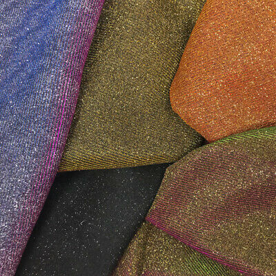 Metallic Moonlight on Interlock Fabric 5758 Wide Shiny Sold BTY Many Colors