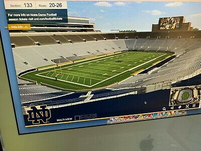 Notre Dame vs- USC football 2 tickets to Paradise in sec 133