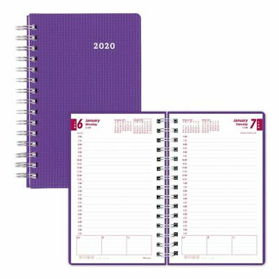 Brownline Daily Planner 5 x 8 Purple January 2020 to December 2020