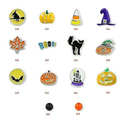 Halloween Floating Charms Rare and Authentic Charms for Charm Lockets and DIY