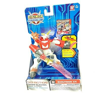 Bandai Digimon Fusion Shoutmon X4 Digi-Action Figure New
