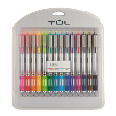 TUL Retractable Gel Pens Bullet Point 0-7 mm Assorted Ink Colors 14-Pack