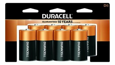 Duracell® Coppertop D Batteries Pack Of 8