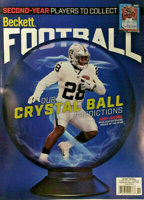New November 2019 Beckett Football Card Price Guide Magazine With Josh Jacobs