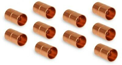 34 HVAC Copper Coupling with Rolled Stop  W01028  C165-0090  Pack of 10