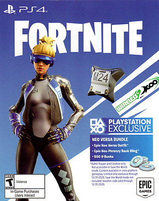 PS4 Exclusive Fortnite Epic Neo Versa Skin - 500 V-BucksUSA  DELIVERY in 3 HR