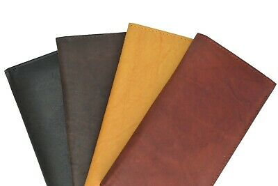 Brand New Hand Crafted Genuine Soft Leather Checkbook Cover Top tear n Side Tear