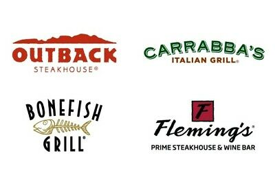 75 Outback Steakhouse Bonefish and Carrabba's Online Same Day Email Delivery