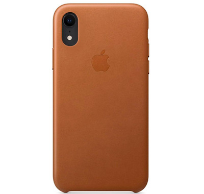 iPhone XR 61″ Apple Genuine Original Leather Case Cover - Saddle Brown