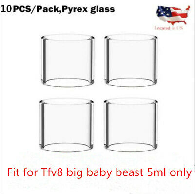 10Pcspack Clear V8 big Baby Replacement 5ml Glass - USA Shipping