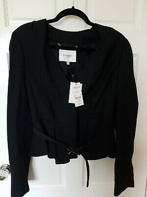 New tags LK Bennett Jude black Jacket peplum size 14 uk like aso kate Middleton