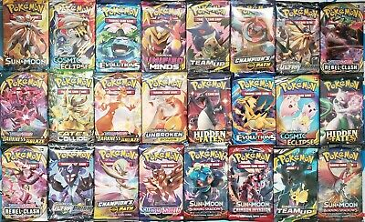Pokemon TCG 3 Booster Packs Lot - 10 Cards in Each Pack from different sets
