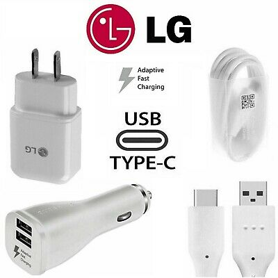 OEM Adaptive Fast Rapid Wall Charger Type-C Cable For LG G5 G6 G7 8 Stylo4 5 V20