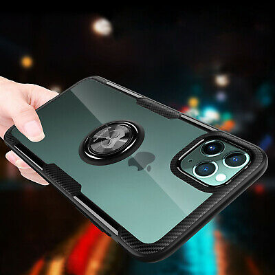 For iPhone 7 8 Plus X XR XS 1112 Mini Pro Max Clear Case Shockproof Ring Cover
